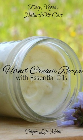 Easy Hand Cream Recipe with Essential Oils by Simple Life Mom