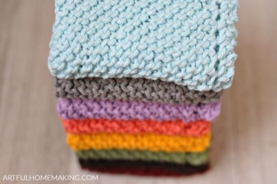 Homestead Blog Hop Feature - knitted-dishcloth-pattern