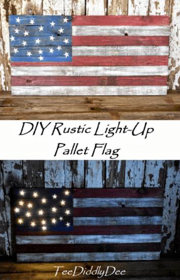 Homestead Blog Hop Feature - DIY Light Up Pallet Flag