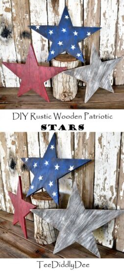 Homestead Blog Hop Feature - DIY Patriotic Rustic Wooden Stars
