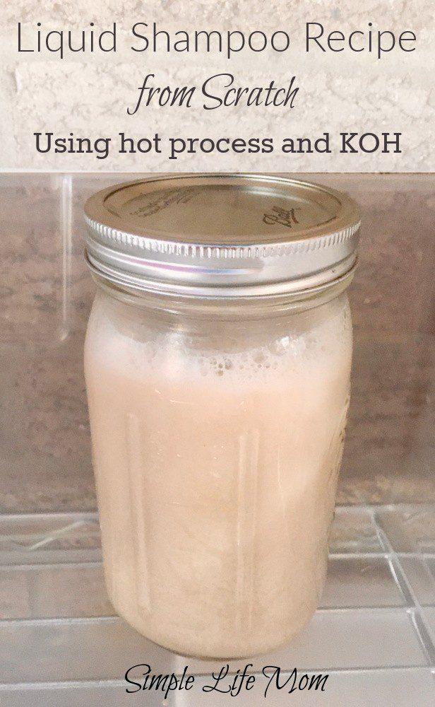Homemade Liquid Shampoo from Scratch