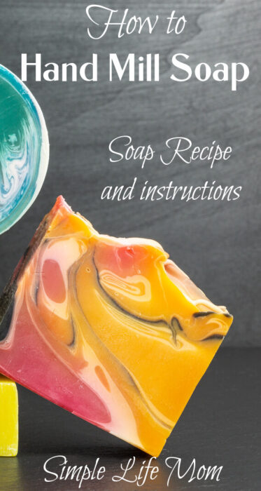 How to Hand Mill Soap and natural soap recipe