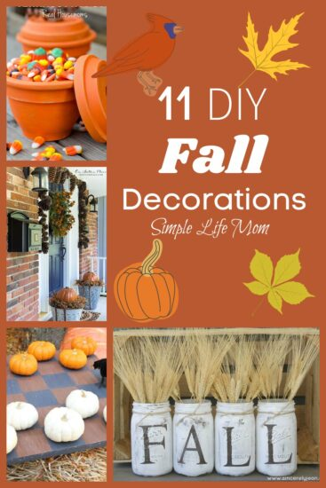 11 DIY Fall decorations roundup from Simple Life Mom