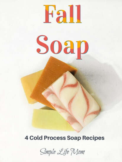 4 Fall Soap recipes - cold process soap for the holidays from Simple Life Mom