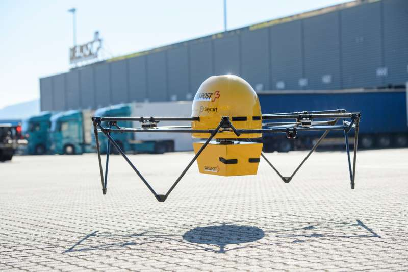 Swiss Post drone package delivery