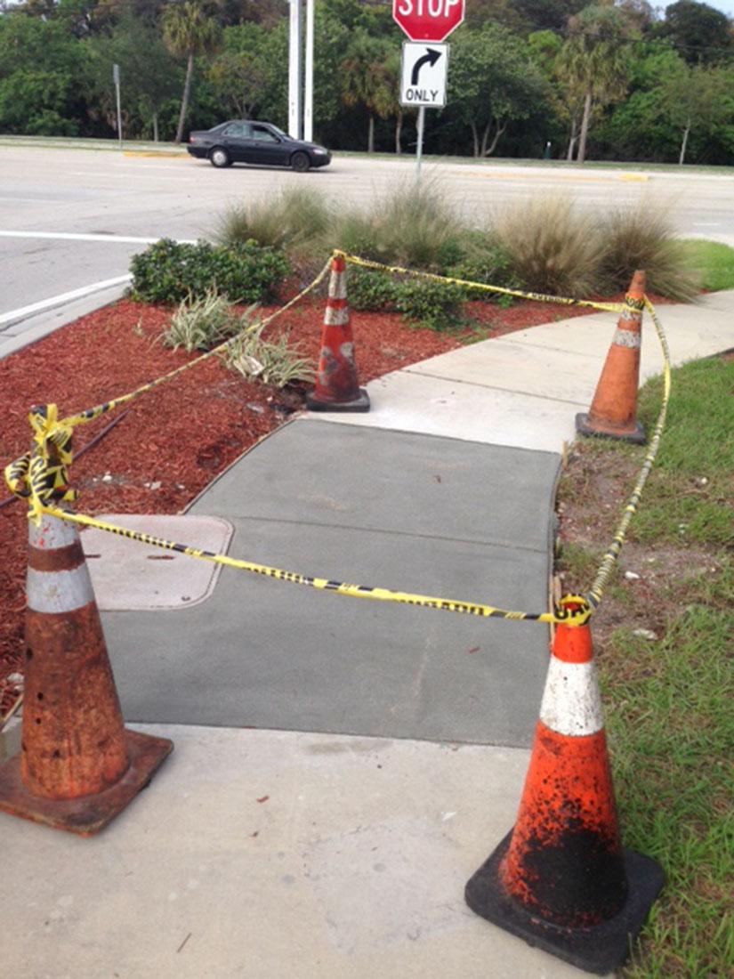 Sidewalk Repair at Walmart 7900 W McNab Rd
