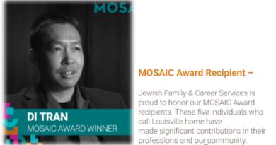 New American Business Assocation Inc - Co-Founder - Di Tran - Mosaic Award Recipient - May 2021