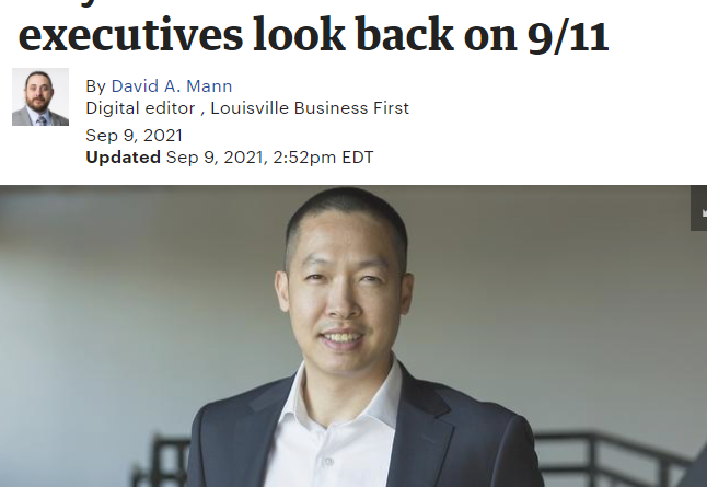 Louisville Business First – Local Execs Reflection on 911 – Di Tran – 20 years look back