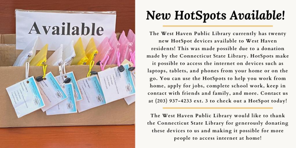 New HotSpots Available