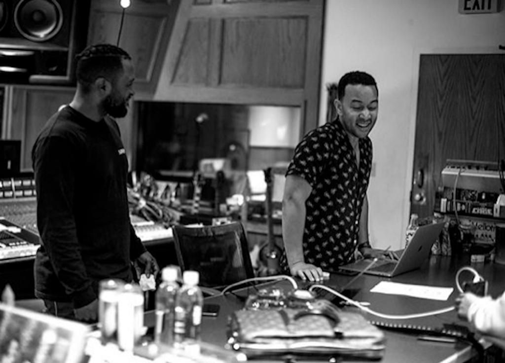 DJ Camper and John Legend in studio