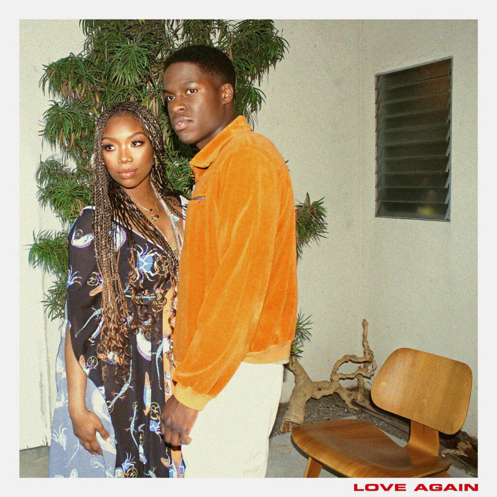 "Brandy and Daniel Caesar's ""Love Again"" single cover"