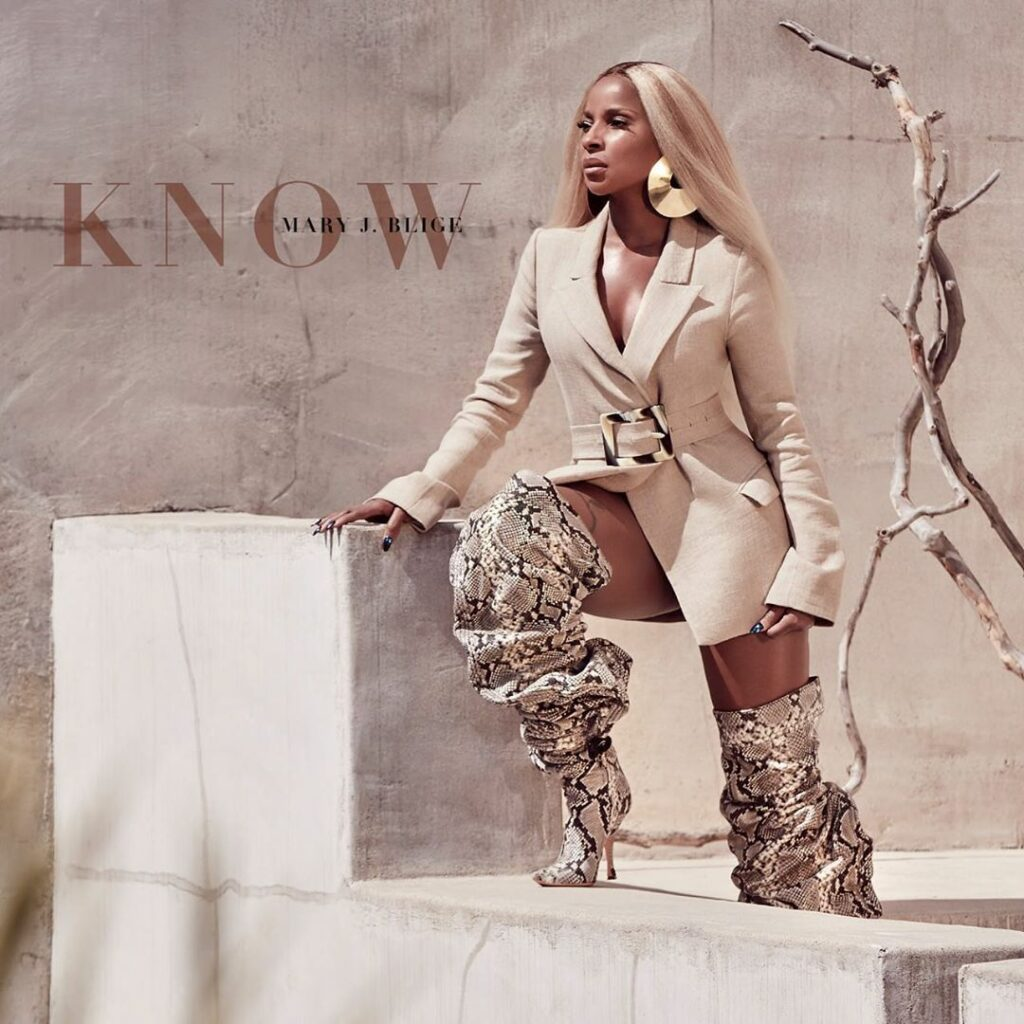 """Mary J. Blige """"Know"""" single cover"""
