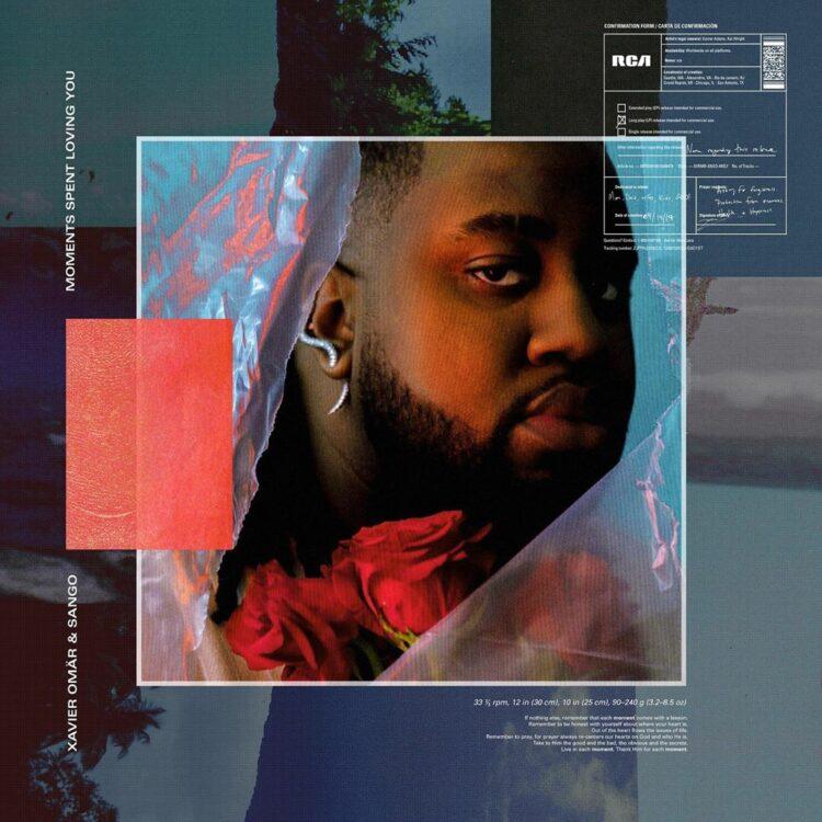 """Xavier Omar """"Moments Spent Loving You"""" album cover"""
