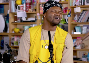 BJ The Chicago Kid performs for NPR's Tiny Desk concert series