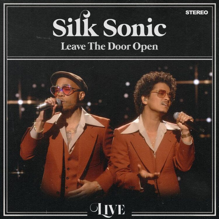 Silk Sonic Leave The Door Open Live single cover