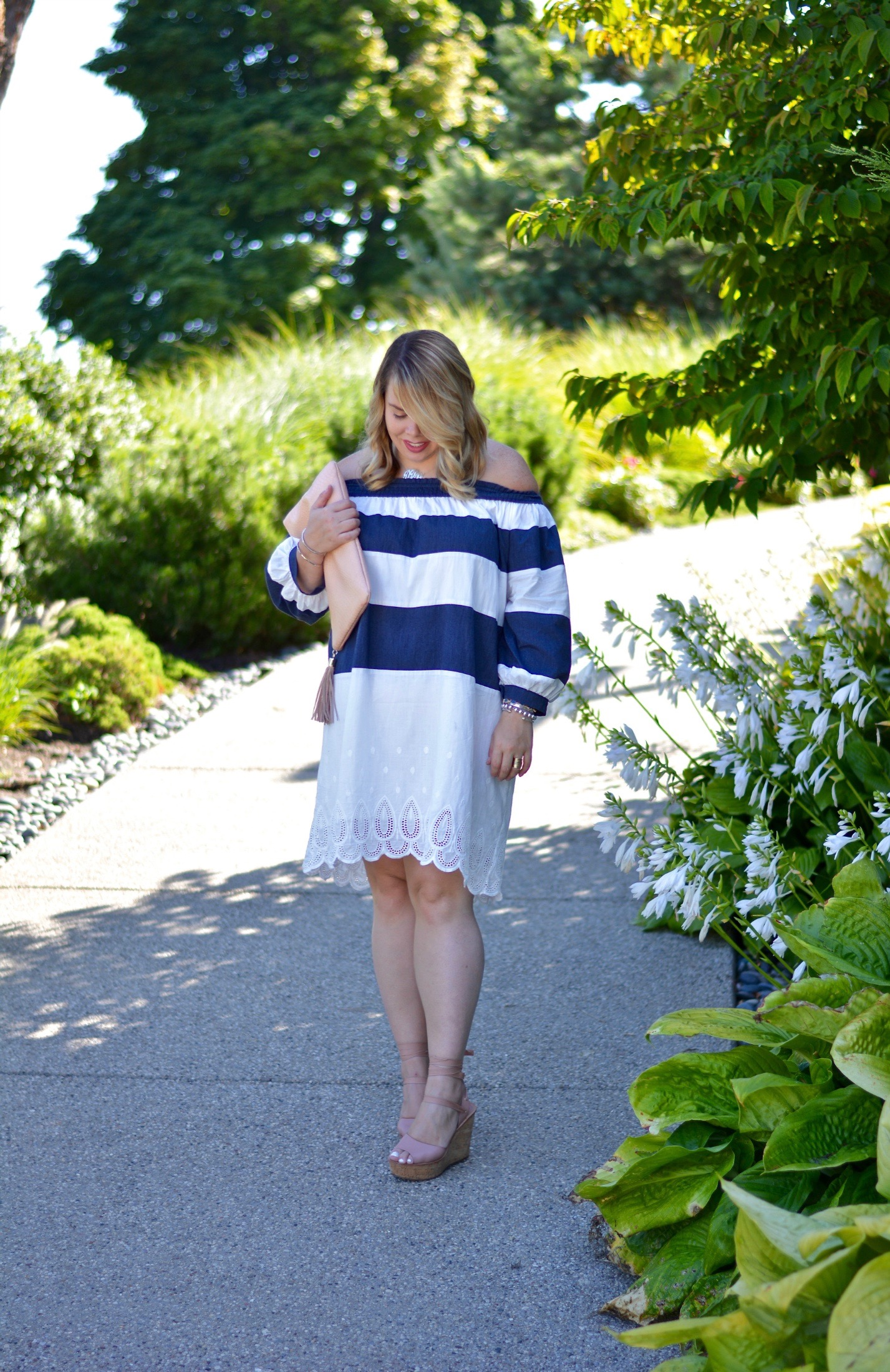 striped OTS dress 5
