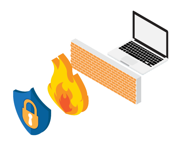 cyber-security firewall illustration