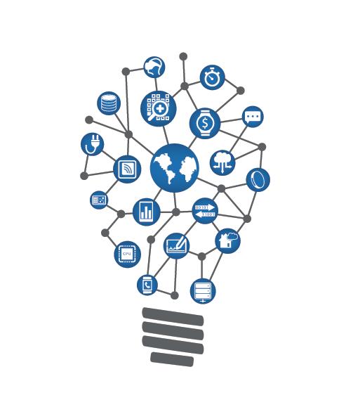 Outsourced IT lightbulb concept