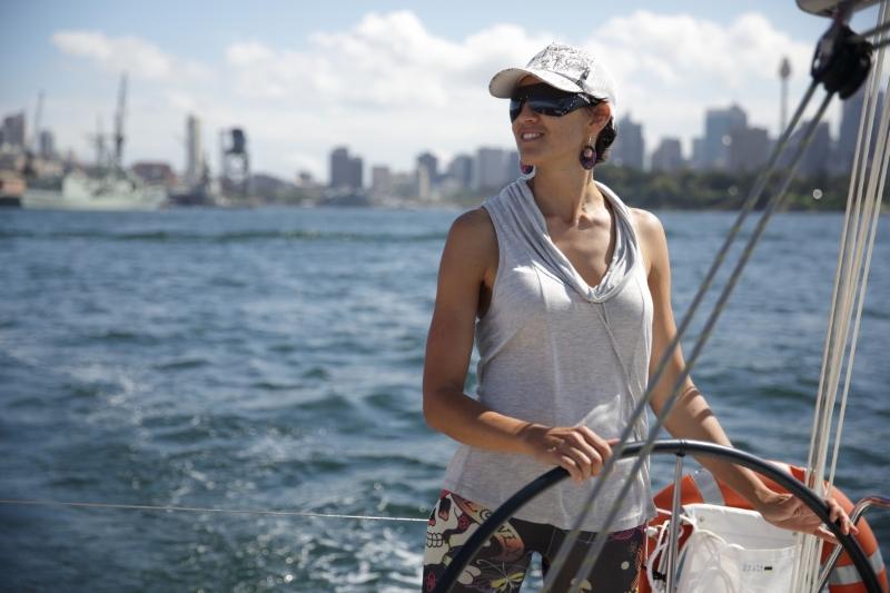 Test sailing a Dufour on Sydney Harbour. Photo Sailing Tranquilo