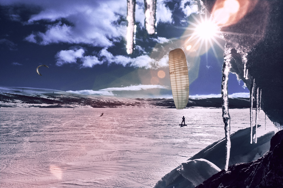 Competitor practises during the Red Bull Ragnarok at Hardangervidda in Haugastol, Norway on March 31st, 2016 editor's note: Infrared photography // Esben Z¿llner Olesen / Red Bull Content Pool