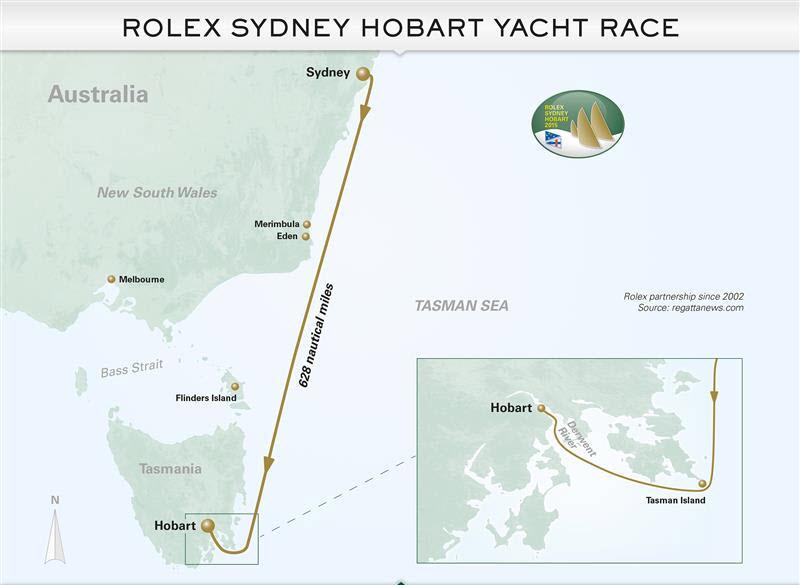 Sydney Hobart Map