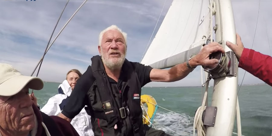 Robin-Knox-Johnston sailing