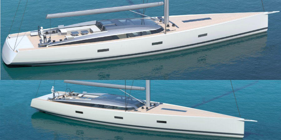 Photo of CNB and Philippe Briand together (again) for a new 92 sailing yacht
