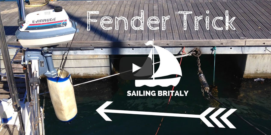 Photo of Cruising Tips: Outboard Engine Fender Trick. VIDEO