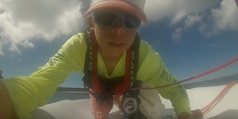 Photo of Crossing the Molokai channel on a 9ft sailboat. VIDEO