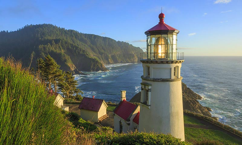 7 Lighthouses in USA heceta