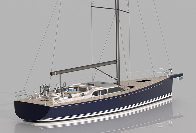 contest 55cs Bluewater sailboats