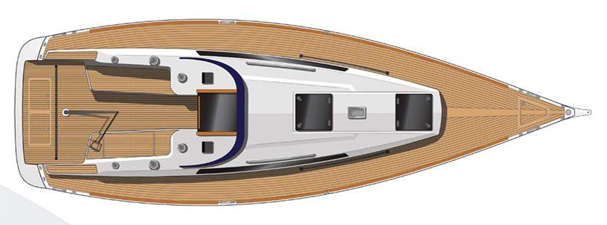 Arcona 345 deck