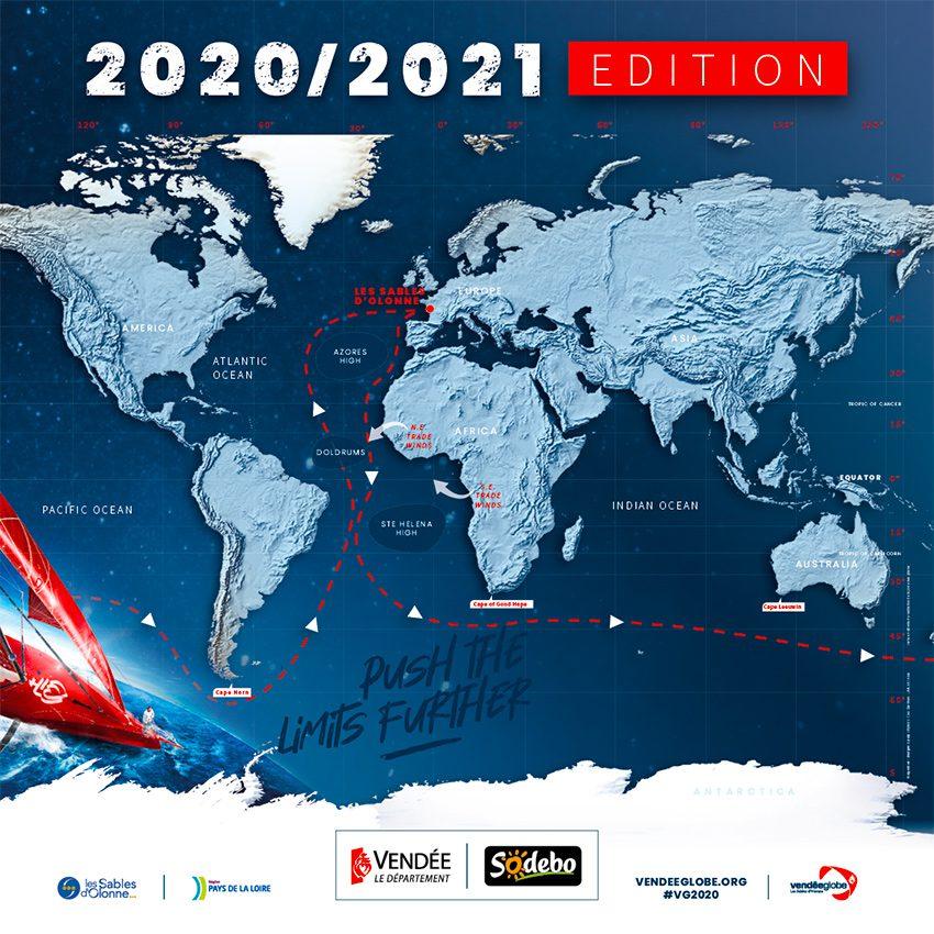 vendée globe 2020 map