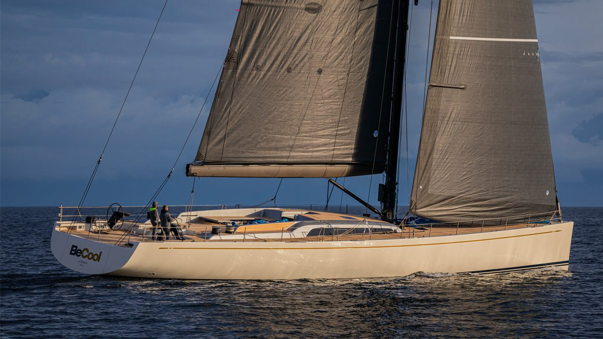 The First 30m Swan 98 BeCool Launched In Finland