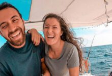 Photo of Couple Living on a Sailboat & Running a Small Business While Off the Grid