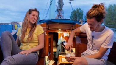 Photo of Living on a TINY 28ft Salvaged Sailboat for 2 Years