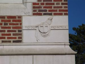 "The cornerstone of our school, in every sense of the word, translates to, ""For God, For Country."""