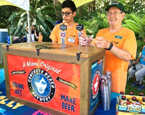 Concrete Beach Brewery showcased a mango brew in the Beer Garden. / Eleanor Hoh