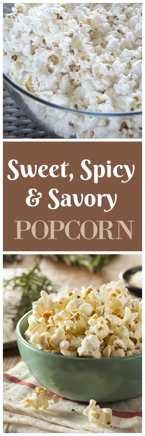 Sweet, spicy and savory popcorn