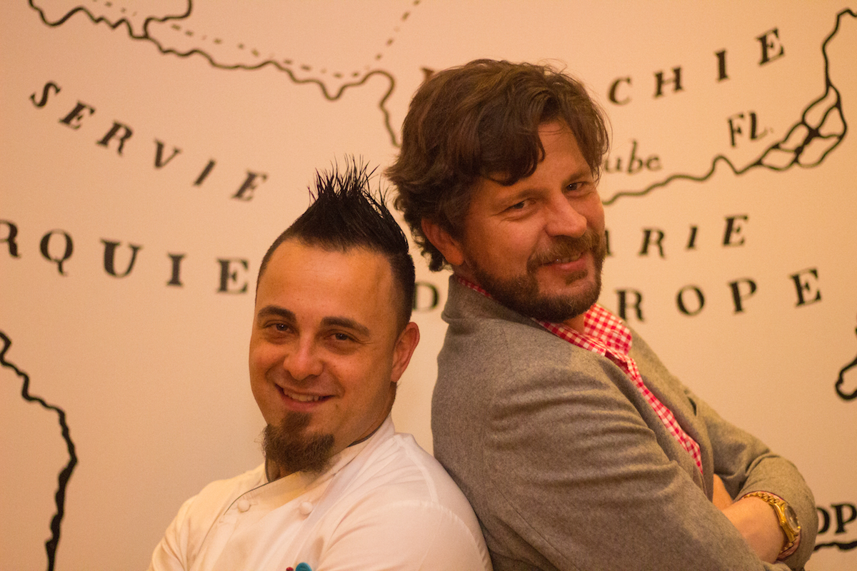 Chef David Valencia and Sascha Bennemann
