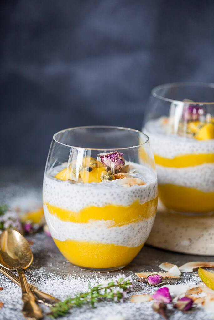 Coconut Mango Chia Pudding by Vibrant Plate