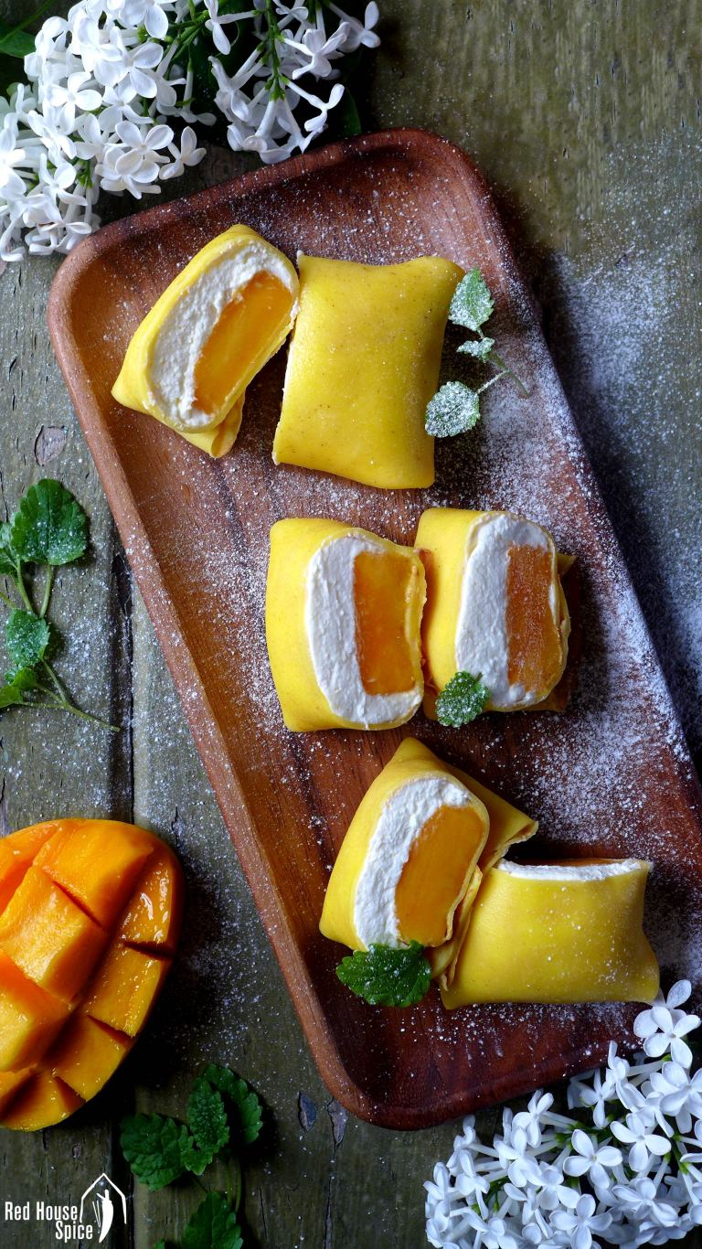 Hong Kong-style Mango Pancakes by Red House Spice