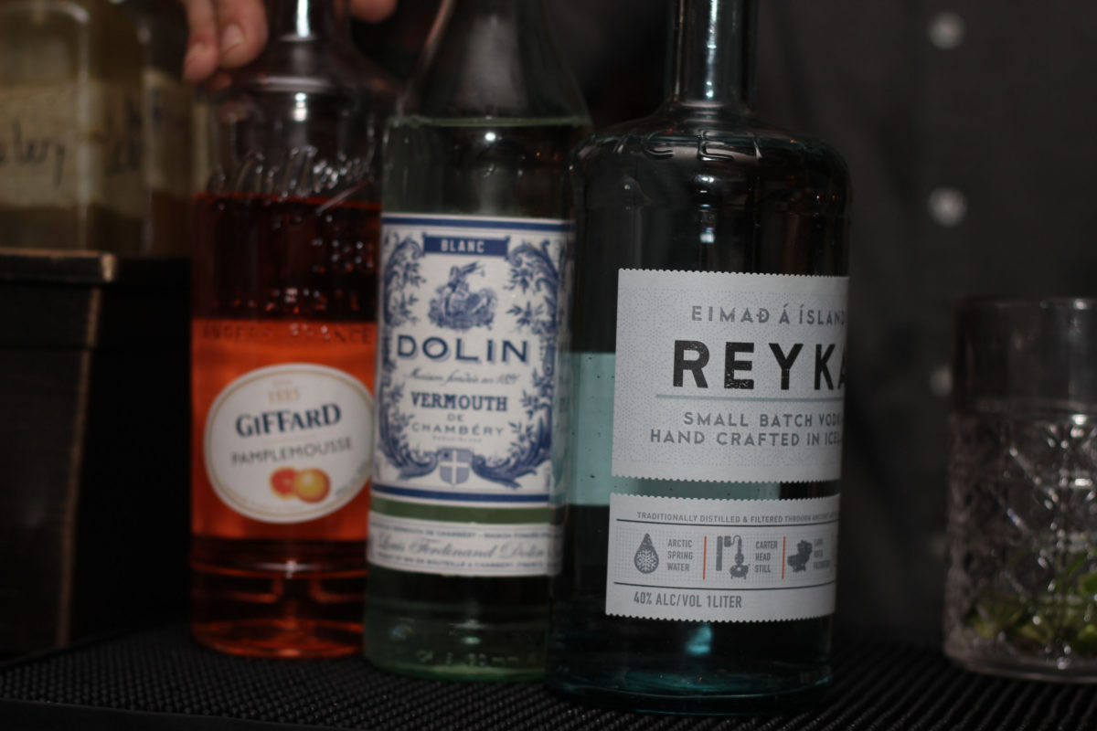 Trio of Bottles Reyka Vodka