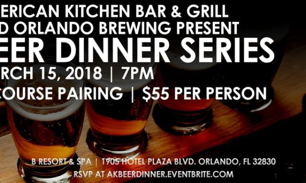 American Kitchen Bar & Grill and Orlando Brewing Beer Dinner Series I
