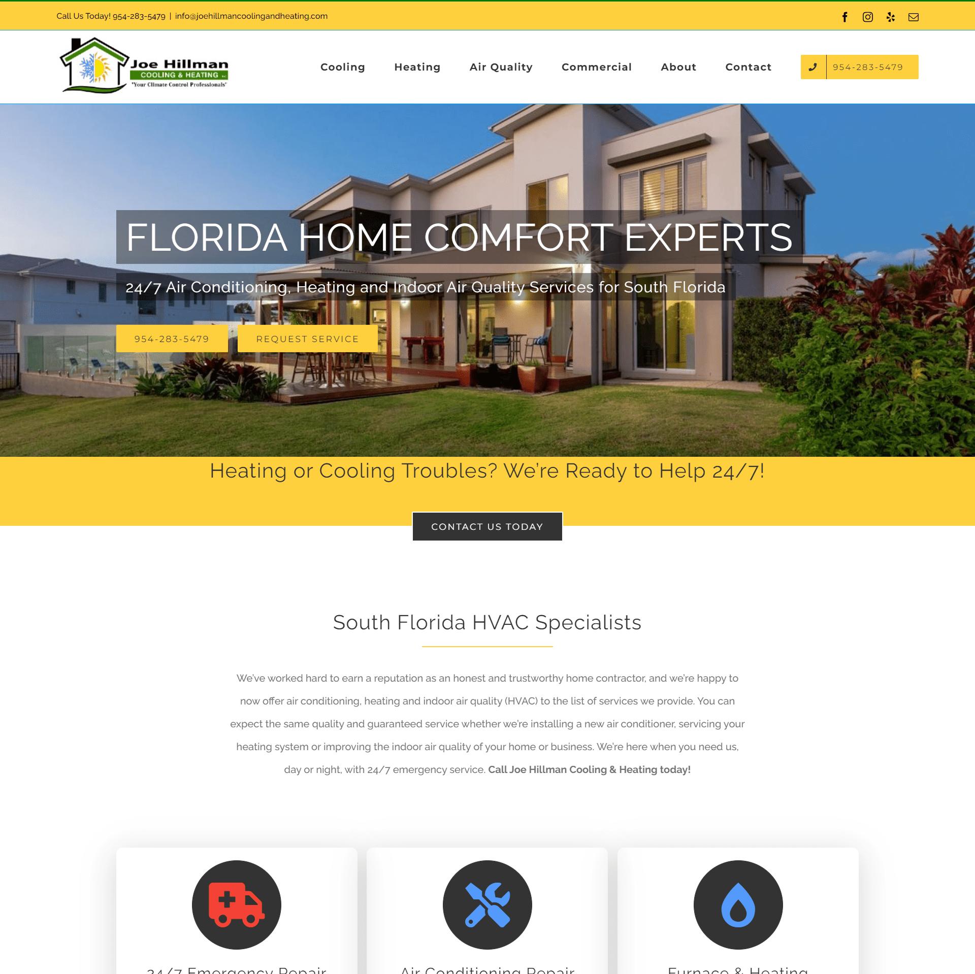 Joe Hillman HVAC Website