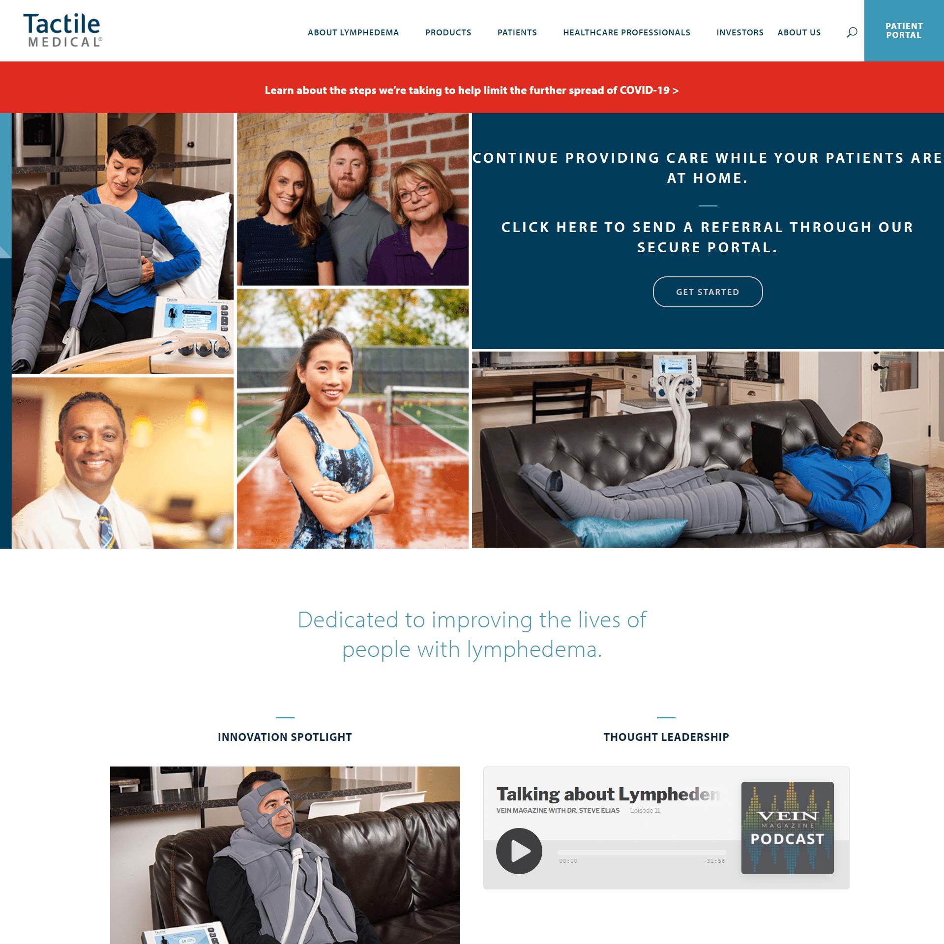 Tactile Medical Website