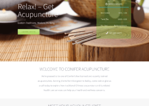 Conifer Acupuncture Website