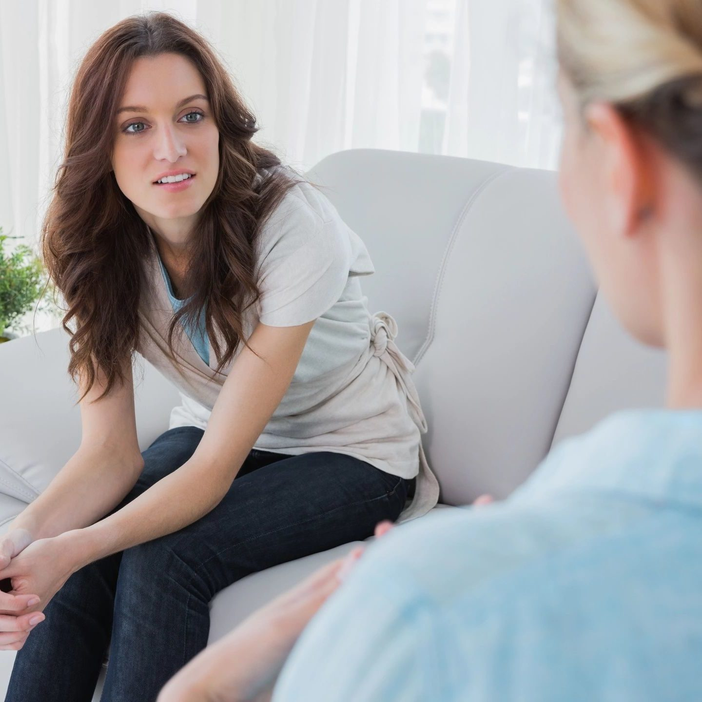 two females in a counseling session