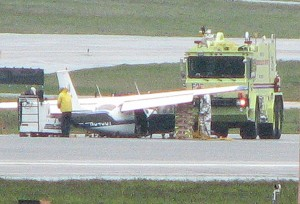 Plane makes belly landing after landing gear problem