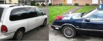 Cars spray painted in Everett
